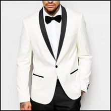 Daily White Sport Coat Customized Comfortable Fancy Suits Wedding Men Fitted Blazer