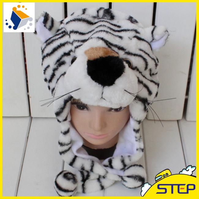 Animal Shaped Hat Red Tiger Hat And Cap Winter Hat Making