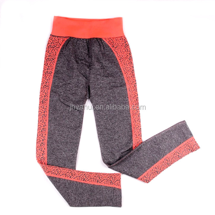 Ladies seamless spandex fitness active wear set