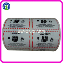 Customized Shipping Box Warning Cartoon Packaging Adhesive Caution Stickers.