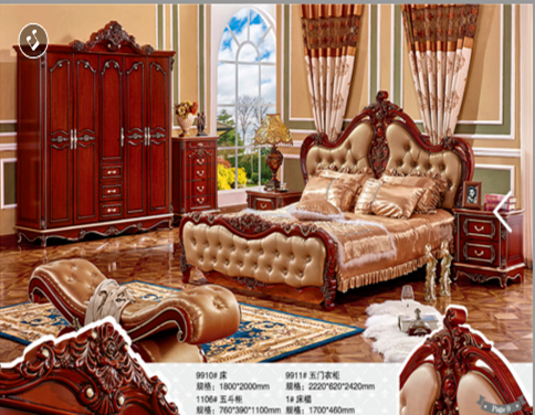 weeding sexy bedroom furniture leather carved wood bed frame antique turkey style vip bedroom sets furniture