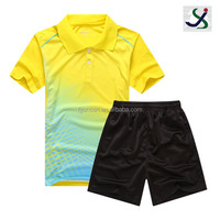china export clothes high quality eco friendly new design tennis wear for men
