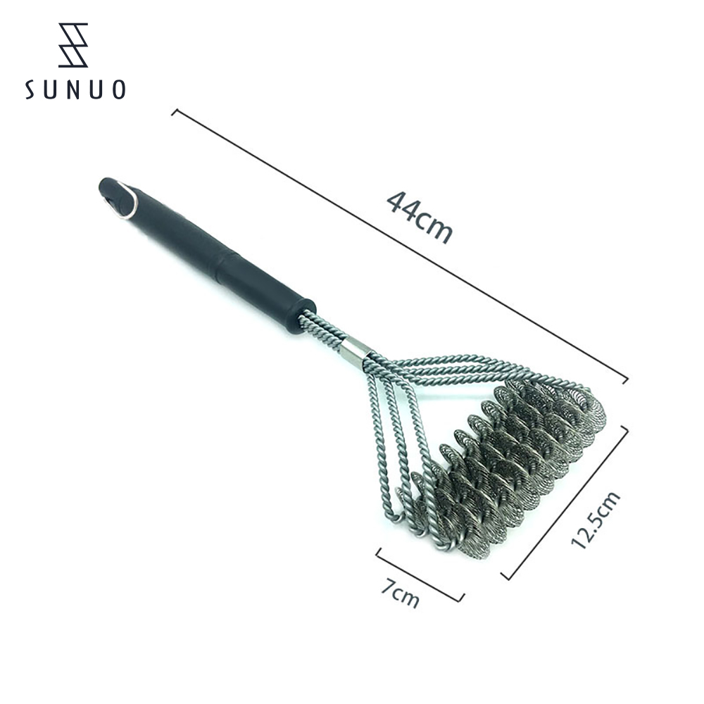 304 Stainless Steel Long Handle Bbq Grill Barbecue Brush