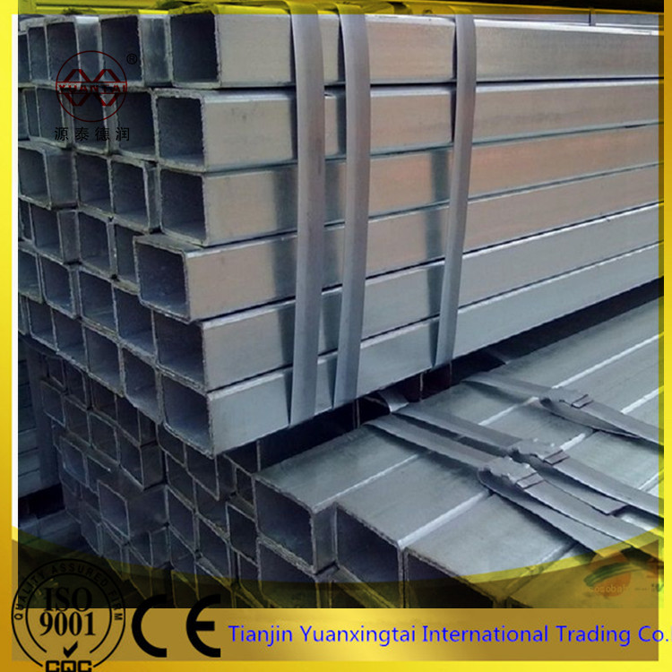 cold rolled hot dipped galvanized rectangular hollow section steel pipe / tube