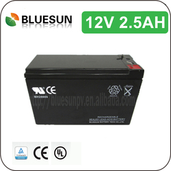 Bluesun good price 12v 2.5ah motorcycle lead acid battery with ISO CE ROHS UL Certificate