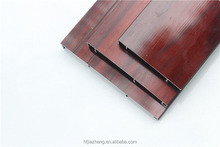 Red solid wood grain aluminum decorative wall skirting board