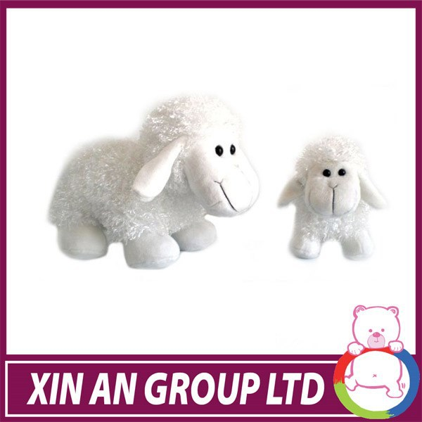 ICTI and Sedex audit new design EN71 plush baby rocking sheep with wooden base