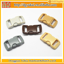 YUKAI hotsale small plastic buckles,curved side release buckles,curved 10mm buckle clasp