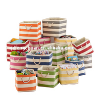 2016 new striped home folding storage basket paper straw basket