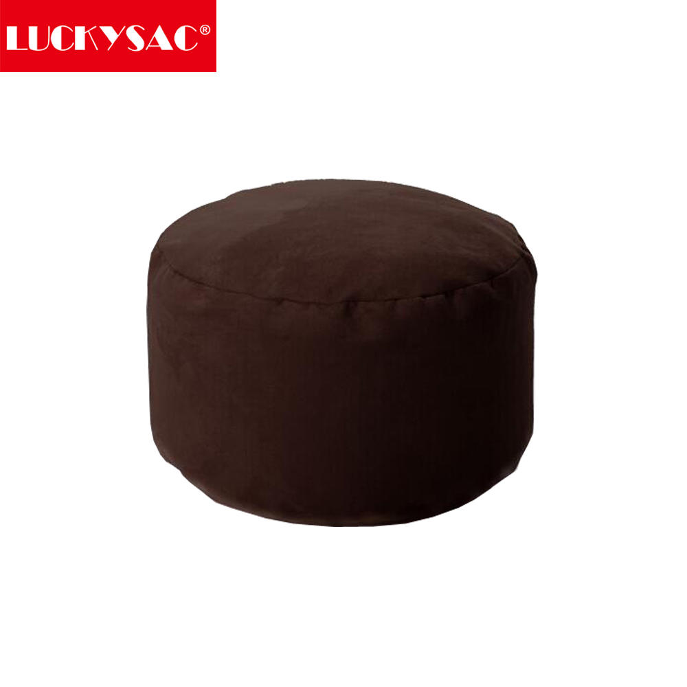 Wholesale Small Brown Ottoman Foot Stool Otoman Round shape for Home or Living room Furniture