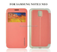 mobie phone custom leather flip case cover for samsung galaxy note3 neo
