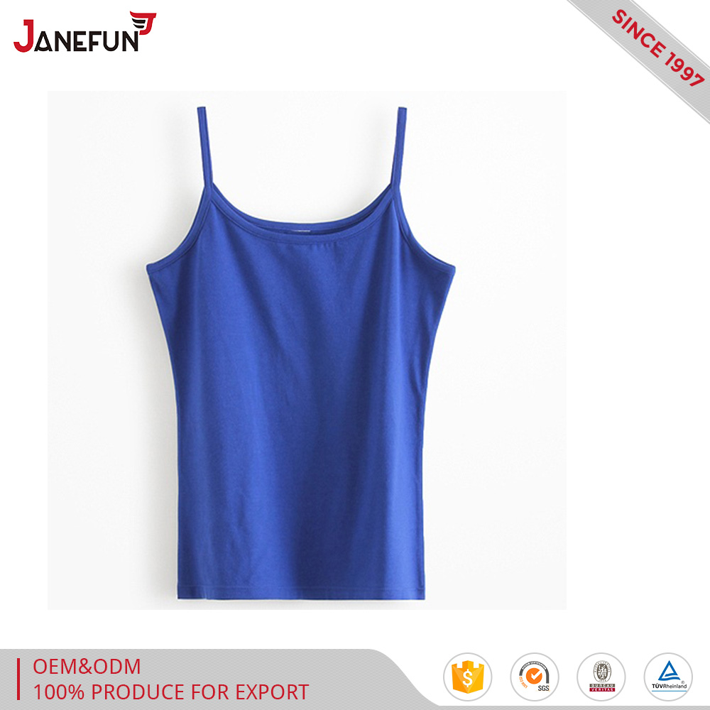 cheap women 5%spandexand 95%cotton tank tops