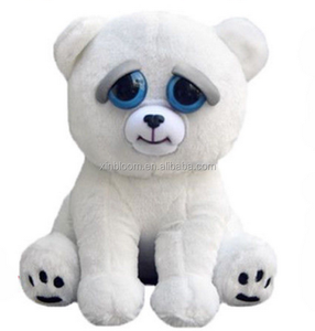 creative lovely funny white stuffed gift plush doll changing face toy