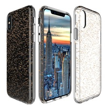 Transparent Glitter Crystal Clear Case for iPhone 8 Case Gel PC hard Cover Skin