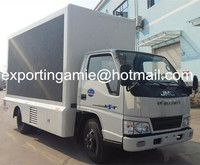 Chengli factory produced Euro4 JMC 2 sides P10 led mobile truck for sale