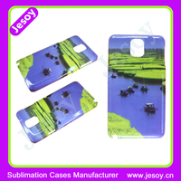 JESOY For Samsung Galaxy Note 2 3 4 5 n9000 n9002 n9005 Plastic 3D Sublimation Case Back Cover