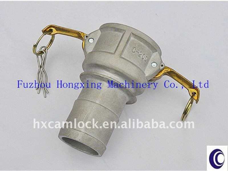 Produced by Gravity Casting and pass T6 Heat treatment Aluminum Camlock Coupling Type C