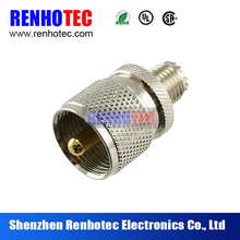 Mini UHF Female To UHF Male HL4850 bulkhead connector