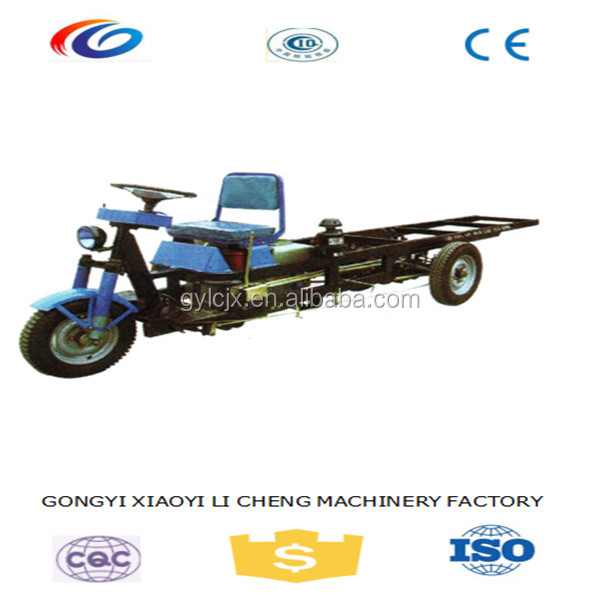 Environmental new green electric flatbed tricycle cargo for adobe