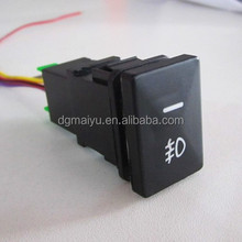 Universal Push Button Switch with LED Lighting laser Mark Symbol for Toyota
