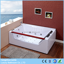 Indoor whirlpool hydro ozone spa bath with pillow