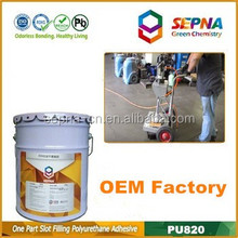 Top quality Single component Grey color Road construction airfield pavement Polyurethane cracks adhesive