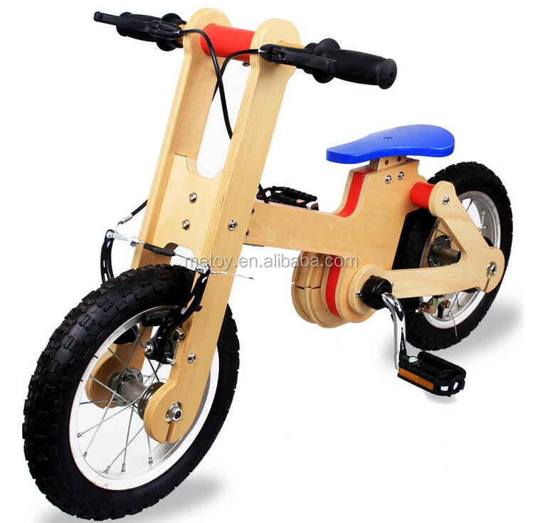 Functional toddler toy wooden balance bike for kids