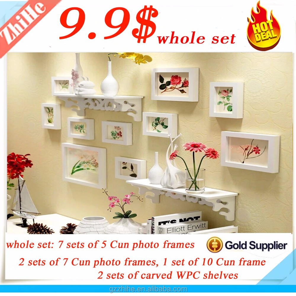 2017 Hot Sale Wall Hanging Wooden Photo Frame Designs