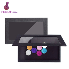 Holographic new magnetic empty makeup palette customize color material size and design PU leather