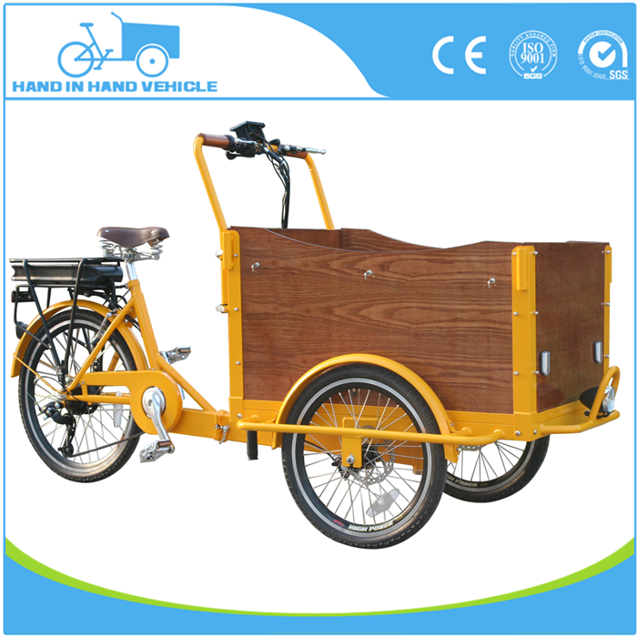 pedal assist electric front folding cargo tricycle