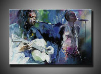 handsome man sing oil painting