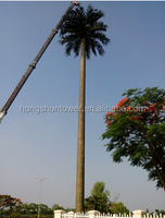 Camouflaged palm tree antenna tower disguised antenna
