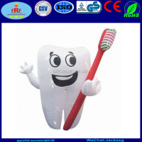 Display Giant Inflatable Tooth Character with toothbrush