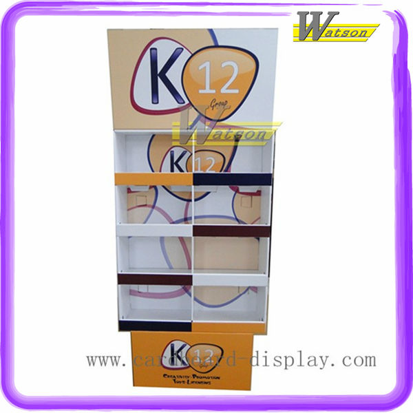 Advertising corrugated Cardboard poster Display Stand for LED promotion, paypal samples
