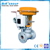 DIN 25 pneumatic water flow control valve with analog output