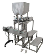 Two heads whipped cream Filling Machine For Viscosity YGF-2JG