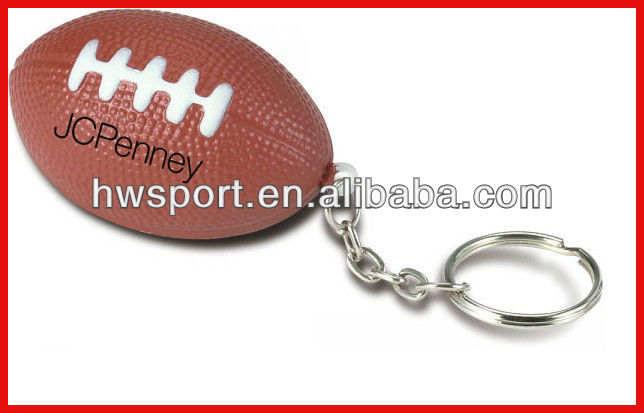 pu rugby squeeze ball,promotional keychain,mini american football