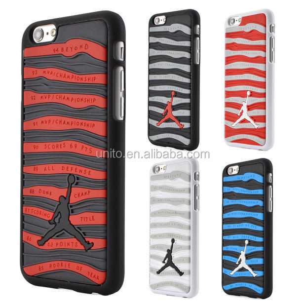 "3D Fashion Jordan Case For iPhone 6 6s Plus 5.5"" Sport Basketball Jordan Stripe Design Hard Plastic Cover Phone Cases"