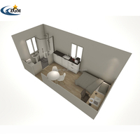 Prefabricated Container Houses With Kitchen Bathroom Flat Pack Container Home For Sale