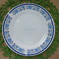 blue and white porcelain dishes plates hot sale, cheap china dishes wholesale to dubai market
