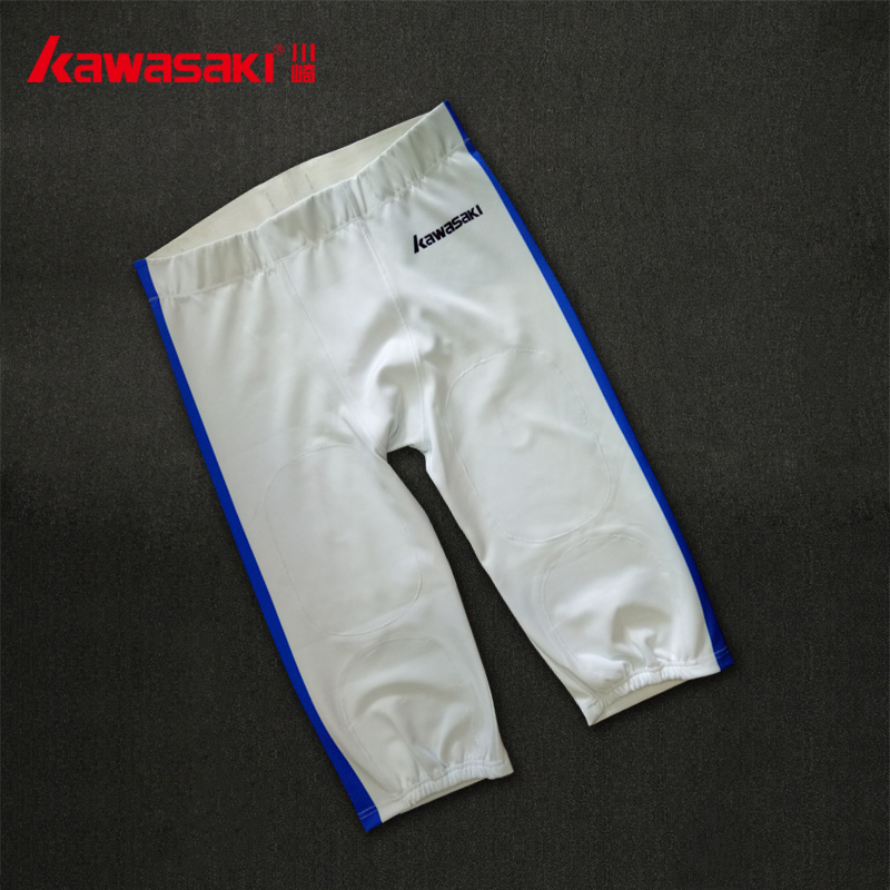 Football pants with two ehite strips