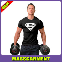 New Men Collection Superman Sport Gym T-Shirt Bodybuilding Fittness Cotton Shirt