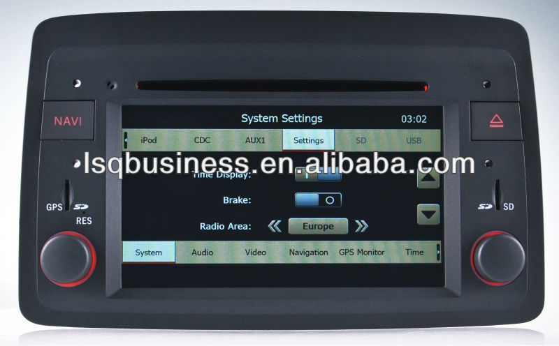 LSQ Star Car Dvd Wholesale For Fiat Panda (2004-2012) With Gps/bt/fm/rds/dvd/ipod/external Sanyo 6 Cdc Box/rearview