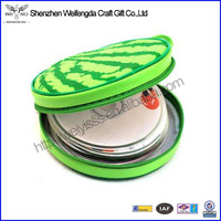 Handmade High Quality leather funny cd case with printing watermelon