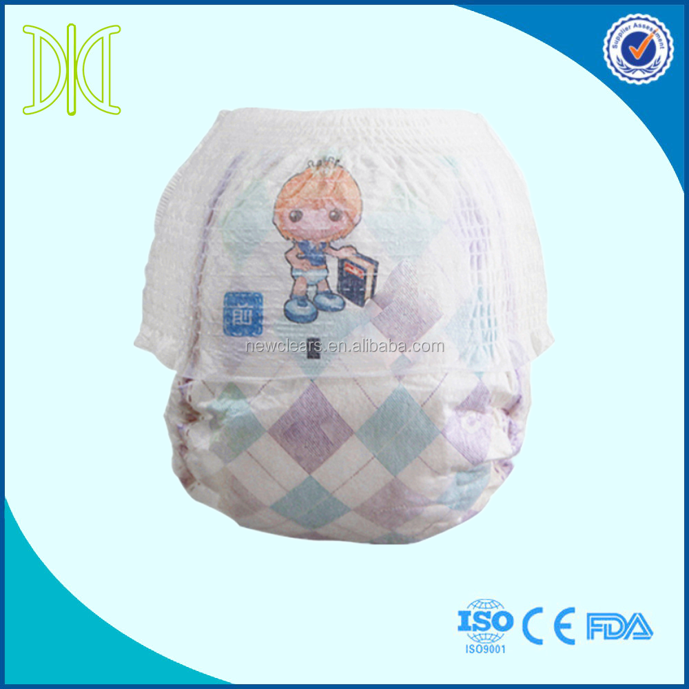 Disposable baby pullup pants babies training pants pullup diapers manufacturer in China