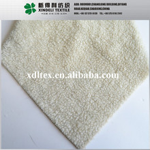 best quality 100% Polyester fake lambs wool plain white cloth material fabric