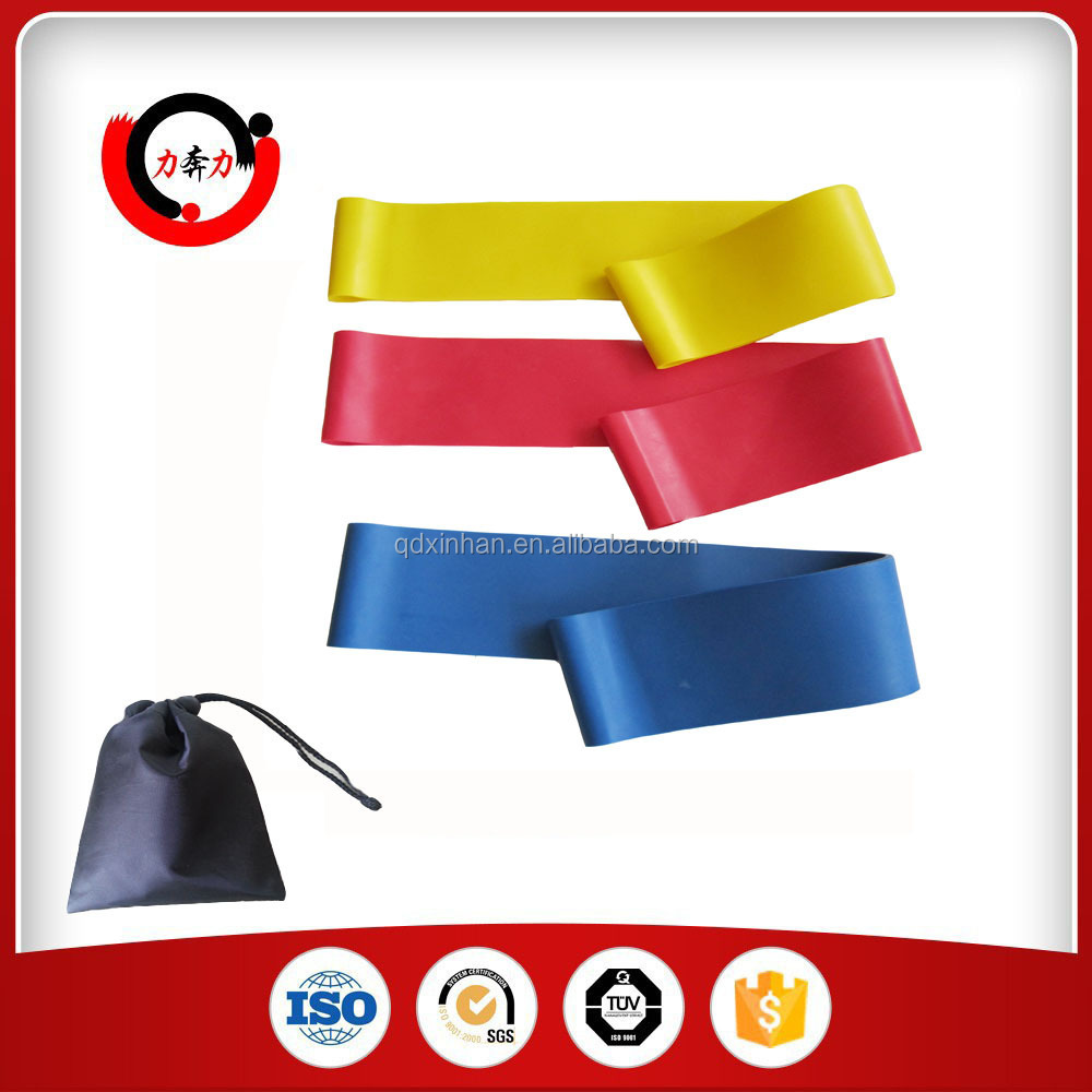 4 Pieces Resistance Loop Band Set With Bag