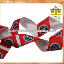 Ribbon supplier custom embossed printed flag ribbon