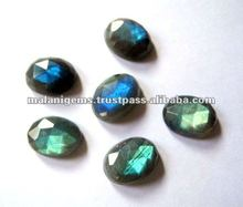 13 x 18 mm Natural Labradorite Oval Rose Cut Calibrated Loose Stone