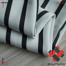polyester yarn dyed stripe fabric for lady wear